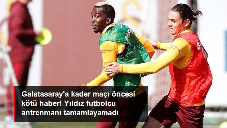 Galatasaray a kader maçı öncesi kötü haber! Yıldız futbolcu antrenmanı tamamlayamadı