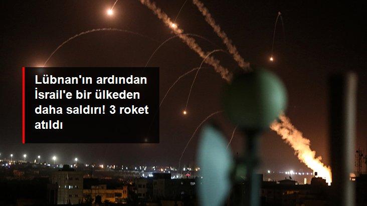 Suriyeden İsrail tarafına 3 roket atıldı