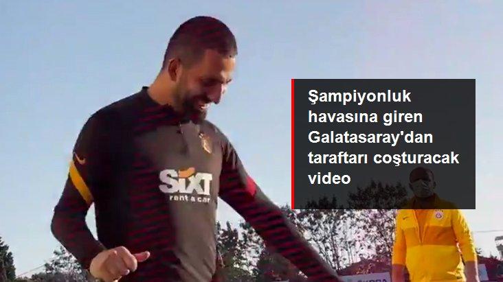 Şampiyonluk havasına giren Galatasaray dan taraftarı coşturacak video