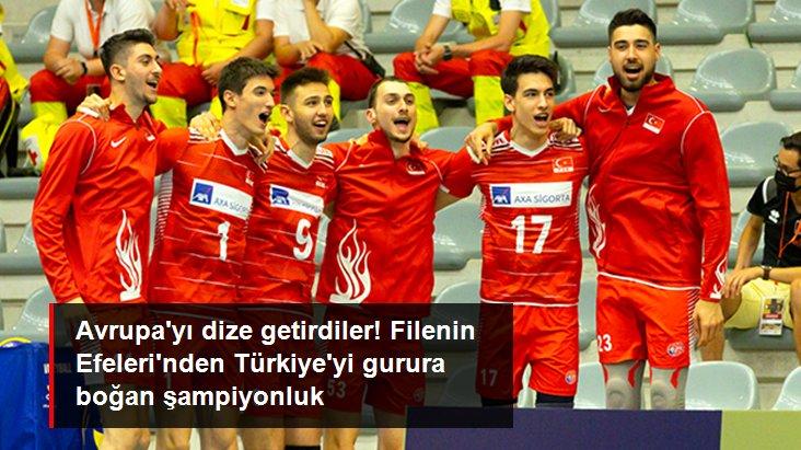 Avrupa yı dize getirdiler! Filenin Efeleri nden Türkiye yi gurura boğan şampiyonluk