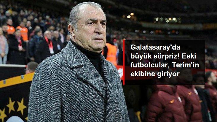 Galatasaray da büyük sürpriz! Eski futbolcular, Terim in ekibine giriyor