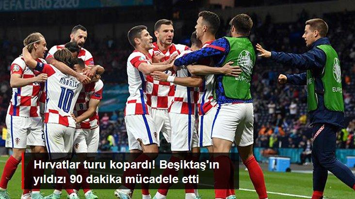 Hırvatlar turu kopardı! Beşiktaş ın yıldızı 90 dakika mücadele etti