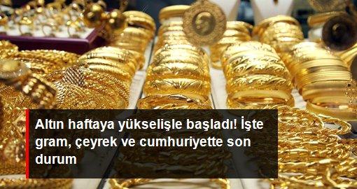 Altının gram fiyatı 500 lira seviyesinden işlem görüyor