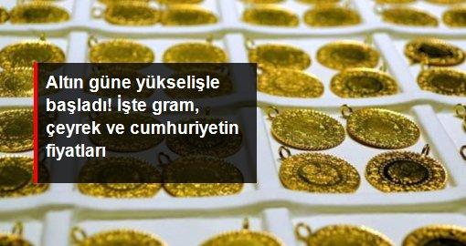 Güne yükselişle başlayan gram altın 495,8 liradan satılıyor