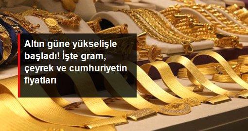 Güne yükselişle başlayan altın 497 liradan satılıyor