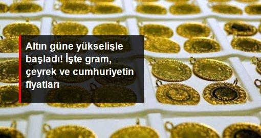Güne yükselişle başlayan altın 498 liradan satılıyor