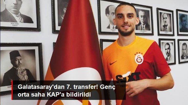 Galatasaray dan 7. transfer! Genç orta saha KAP a bildirildi