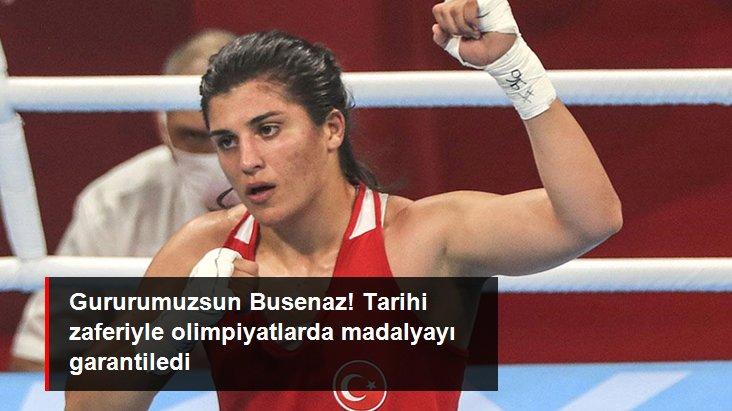 Gururumuzsun Busenaz! Tarihi zaferiyle olimpiyatlarda madalyayı garantiledi