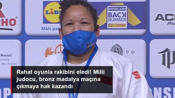 Rahat oyunla rakibini eledi! Milli judocu, bronz madalya maçına çıkmaya hak kazandı