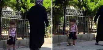 Çocuğu gezintiye çıkarmıştı, anormalliği fark eden kişi kayda aldı! Kadına tepki yağıyor