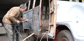 1964 model minibüse 350 bin lira masraf yaptı! Son halini görenler gözlerine inanamıyor