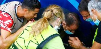 Yürekler ağza geldi! Ronaldo ısınma sırasında kadın güvenlik görevlisini bayılttı