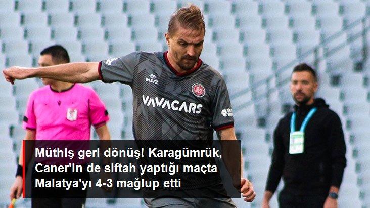 Müthiş geri dönüş! Karagümrük, Caner in de siftah yaptığı maçta Malatya yı 4-3 mağlup etti