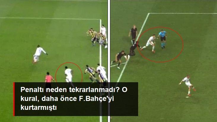 Penaltı neden tekrarlanmadı? O kural, daha önce F.Bahçe yi kurtarmıştı