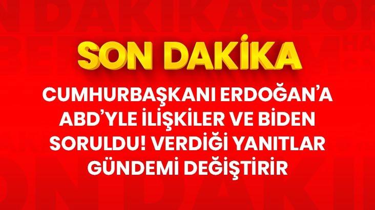 Son Dakika! Cumhurbaşkanı Erdoğandan ABD-Türkiye ilişkileriyle ilgili açıklama: Şu an gidiş pek hayra alamet değil