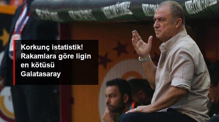 Korkunç istatistik! Rakamlara göre ligin en kötüsü Galatasaray