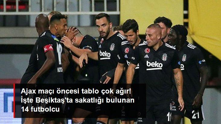 Ajax maçı öncesi tablo çok ağır! İşte Beşiktaş ta sakatlığı bulunan 14 futbolcu
