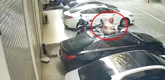 Cinsel ilişki sırasında balkondan düşen kadın, son model arabayı pert etti
