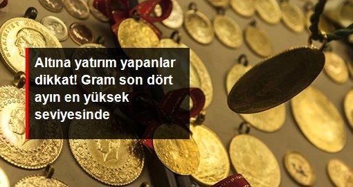 Altının gram fiyatı 513 lirayla son dört ayın en yüksek seviyesinde