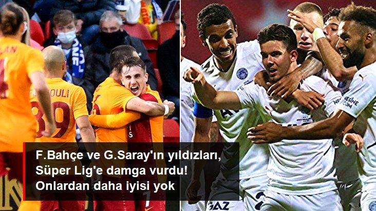 F.Bahçe ve G.Saray ın yıldızları, Süper Lig e damga vurdu! Onlardan daha iyisi yok