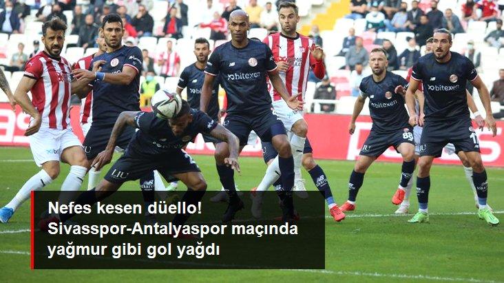 Nefes kesen düello! Sivasspor-Antalyaspor maçında yağmur gibi gol yağdı