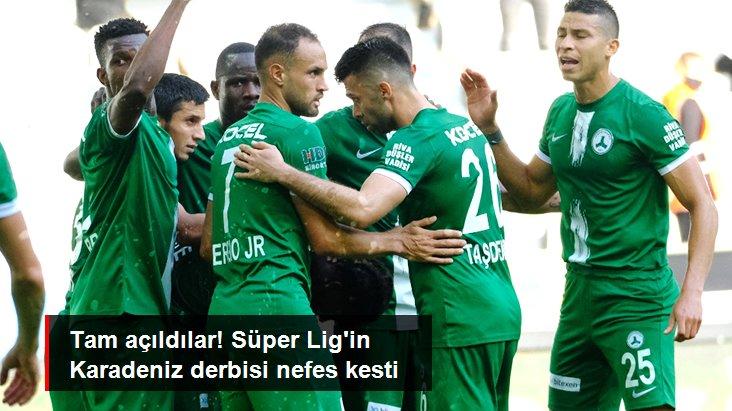 Tam açıldılar! Süper Lig in Karadeniz derbisi nefes kesti