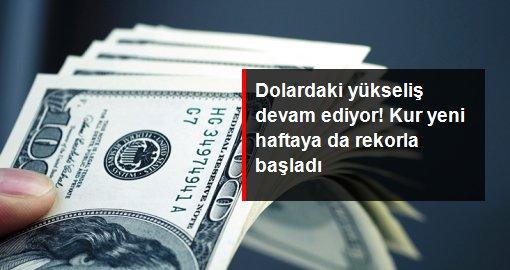 Son dakika: Dolardaki yükseliş devam ediyor! Kur yeni haftada da rekor tazeledi