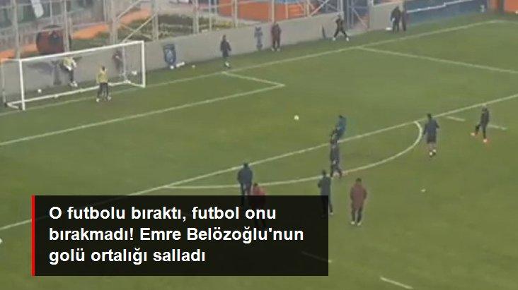 O futbolu bıraktı, futbol onu bırakmadı! Emre Belözoğlu nun golü ortalığı salladı