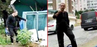 Evinin önünde satış yapan yeğeninin tezgahına, motorlu testereyle saldırdı