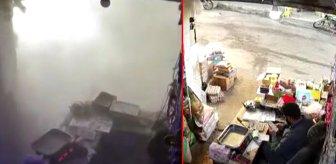 Her şey bir anda oldu! 11 kişinin öldüğü pazar yeri saldırısının görüntüleri ortaya çıktı