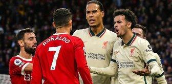 Ronaldo'dan skandal hareket! Tarihi Liverpool maçında yere düşen genç futbolcuyu acımasızca tekmeledi